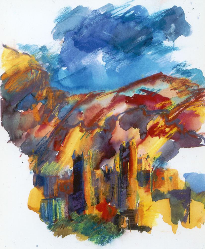 Freie malerei gemalter t raum thomas wenzel for Raumgestaltung im alter
