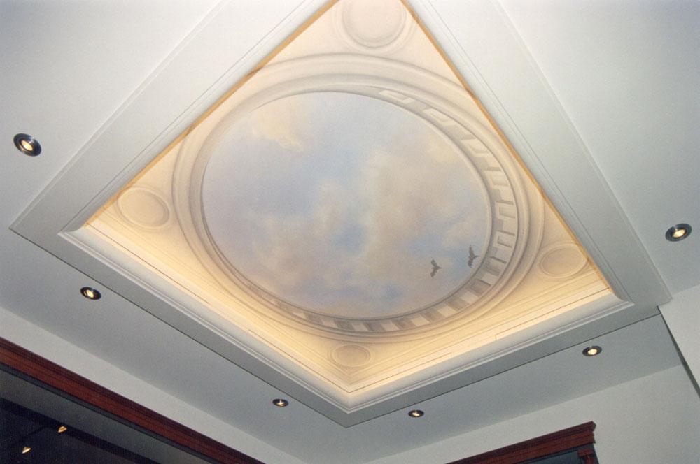 Illusionsmalerei trompe l oeil gemalter t raum for Raumgestaltung berlin