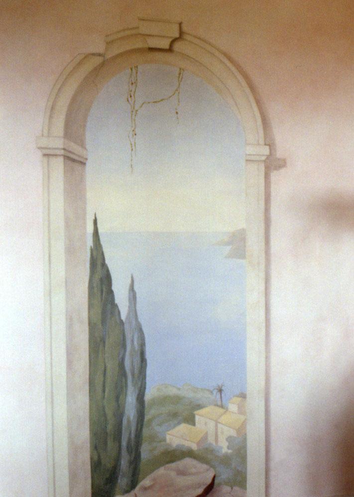 Wandbilder und deckenmalerei gemalter t raum thomas for Raumgestaltung berlin